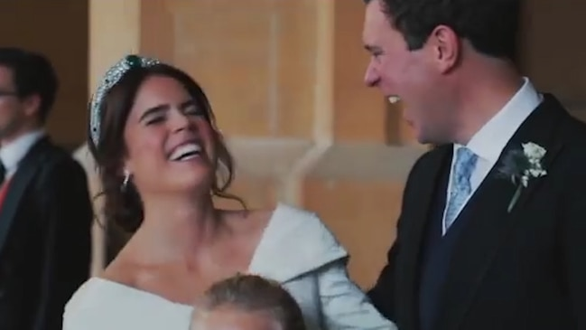 Behind-the-scenes footage of Princess Eugenie's wedding