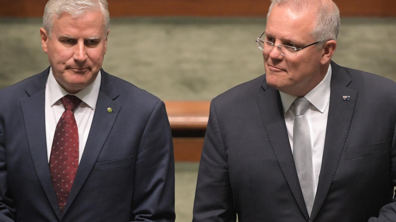 The two Coalition party leaders. Picture: Tracey Nearmy/Getty Images