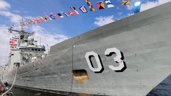 HMAS Sydney in Hobart.