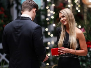 Chelsie gave Matt the gift of oxytocin without making him give up coffee. Source: Channel 10