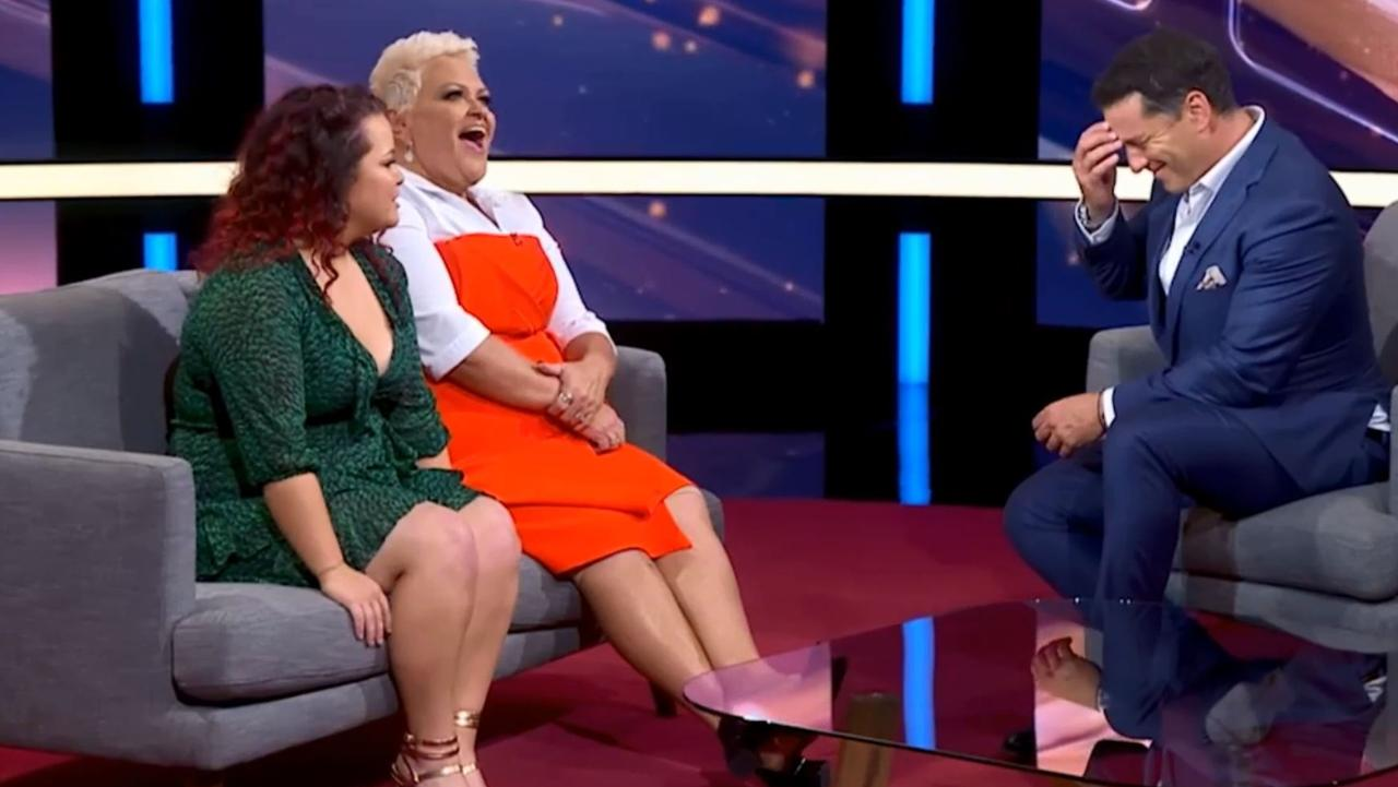 Stefanovic didn't know where to look as Brenda spoke about her cha-cha.