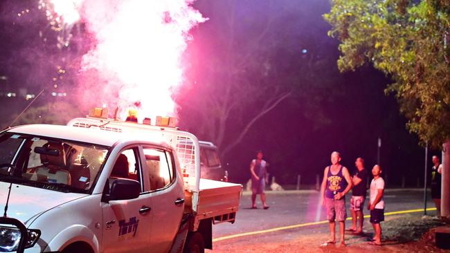 Some firework users found themselves in a pickle after using crackers in the back of their hire ute on Territory Day in Darwin.