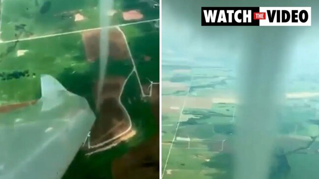 Pilot comes within metres of 'funnel cloud' in terrifying video