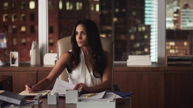 Meghan Markle as Rachel Zane in TV series Suits. Picture: Shane Mahood
