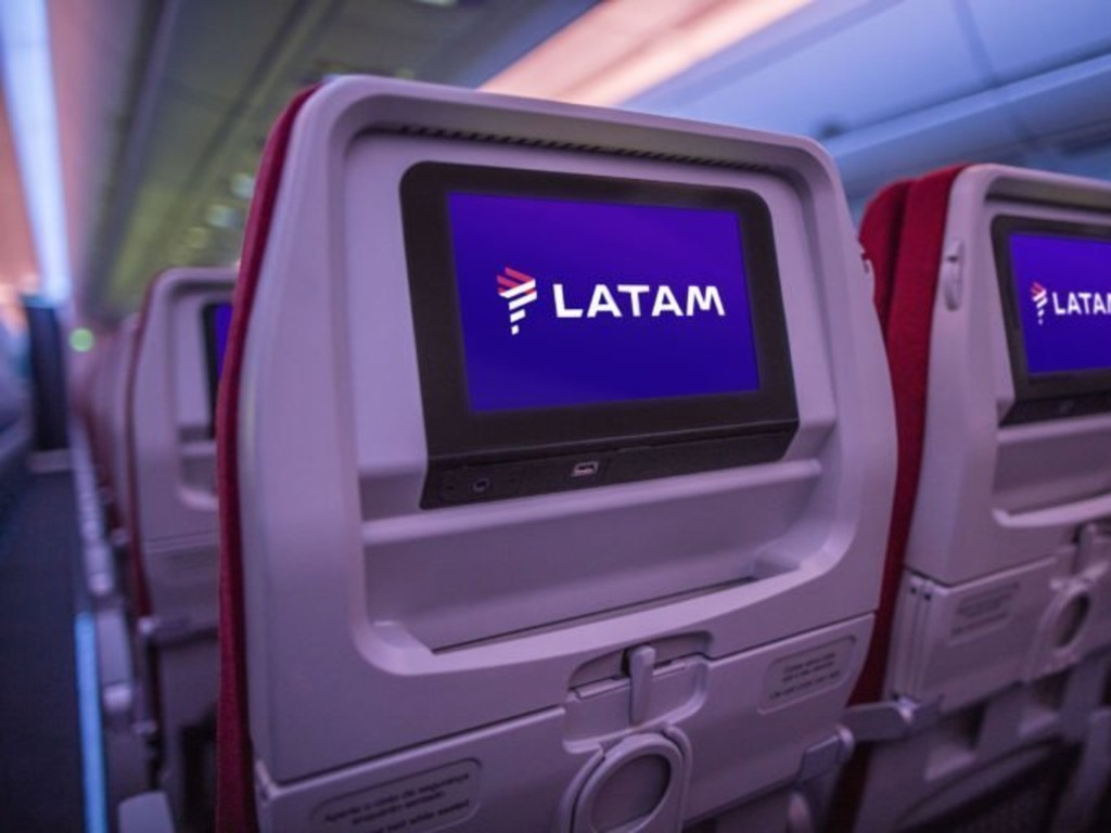 LATAM economy seating. Picture: LATAM