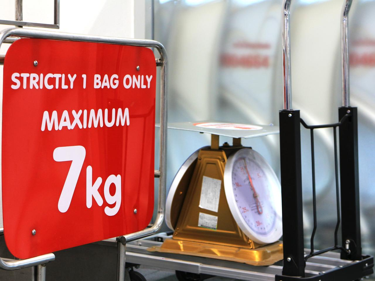 Baggage Weight Limit Sign Board
