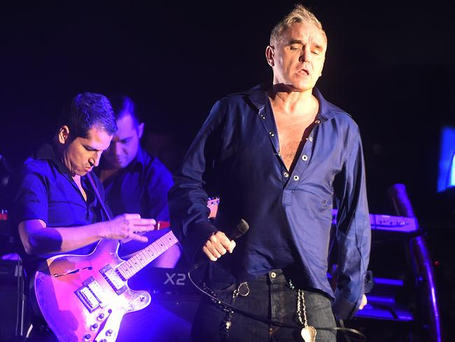 Morrissey on stage at Festival Hall, Melbourne, on October 23. Picture: Rob Leeson