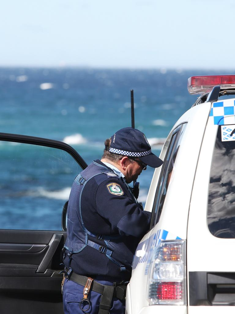 Police have a vessel out at sea. Picture: Peter Lorimer.