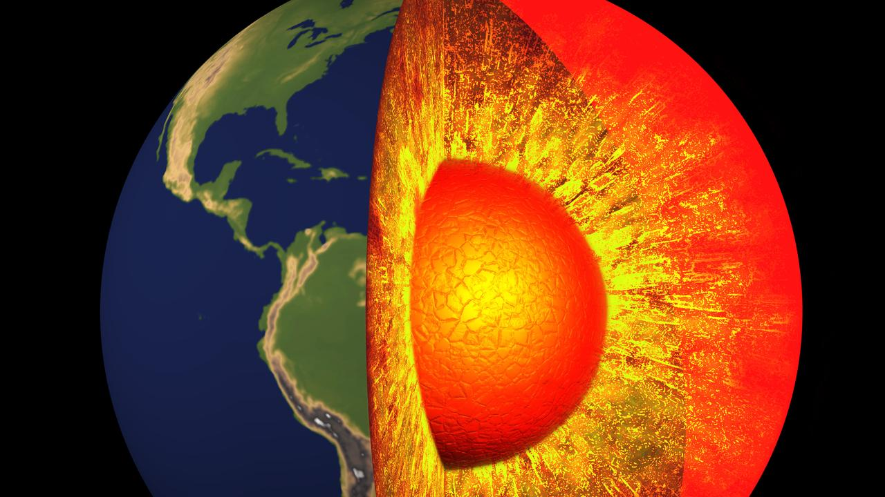 *** Online Use Only / No Sales *** Cut-away diagram of the Earth's core. Stock File Artwork of the Earth's Core, Planet Earth. Picture: Getty Images *** Online Use Only / No Sales ***