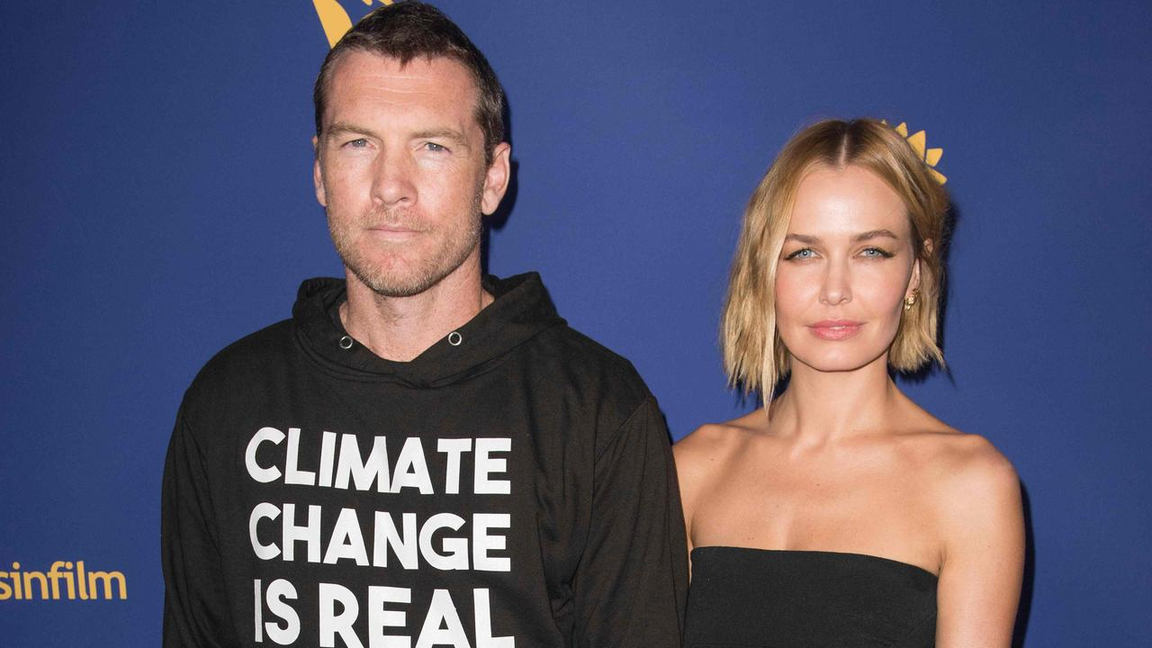 Sam and Lara Worthington arrive for the Australians in Film Awards Gala in California. Picture: Nick Agro