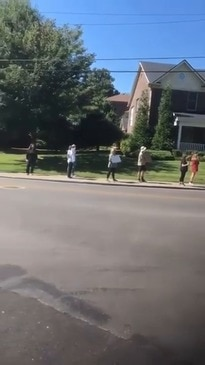 Protesters Gather Outside Mitch McConnell's House in Louisville