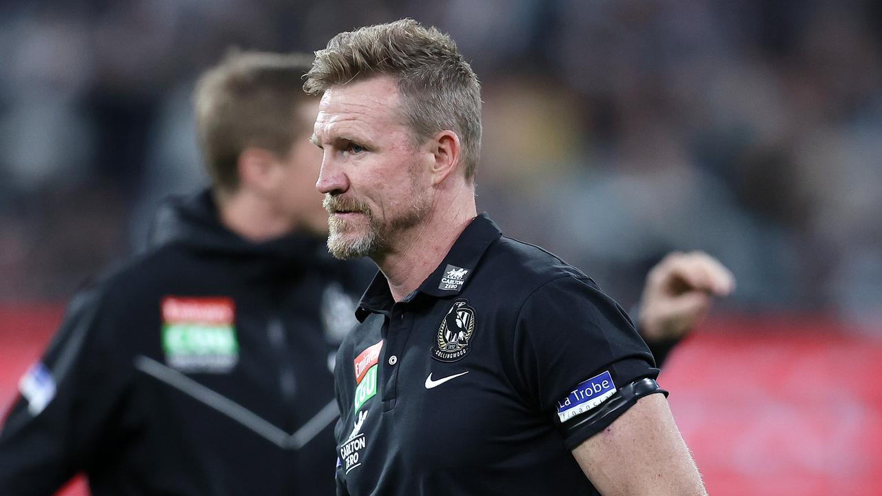 Nathan Buckley is set to step down as senior coach of the Magpies. Picture: Michael Klein