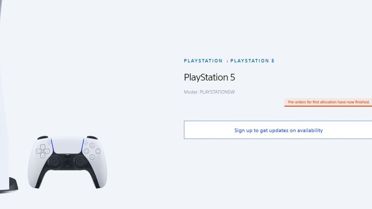 Sony denies it's having any trouble producing the PS5 but it has run out of pre-orders.