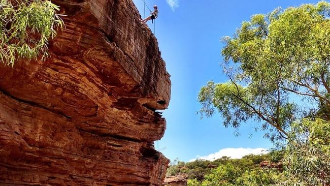 """9/9Seil away Not a typo. Kalbarri Abseil – which has the excellent slogan """"come hang with us"""" – offers visitors the chance to experience Z Bend Gorge in Kalbarri National Park up close and personal. The tour involves hiking the river trail to the abseil site. From there, you get rigged up and safely trained in mastering a four-metre wall. Once you've got the basics, it's onto the 25 and 30 metre walls. See also: The best places to stay in Broome. 14 ways to see WA's wildflowers."""