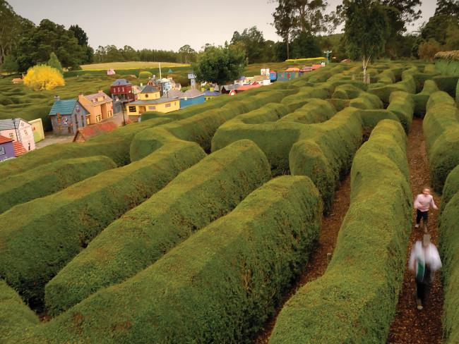 Visit the Village of Lower Crackpot and its mazes When you see a place called Lower Crackpot on the map, you have to visit. Even if finding your way out again might not be so easy. Tazmazia and the Village of Lower Crackpot is a family attraction featuring one of the world's largest maze complexes, plus a whimsical model village built to 1/5th scale. It's at Promised Land, north-east of Cradle Mountain. Tasmazia. Credit: Michael Walters Photography