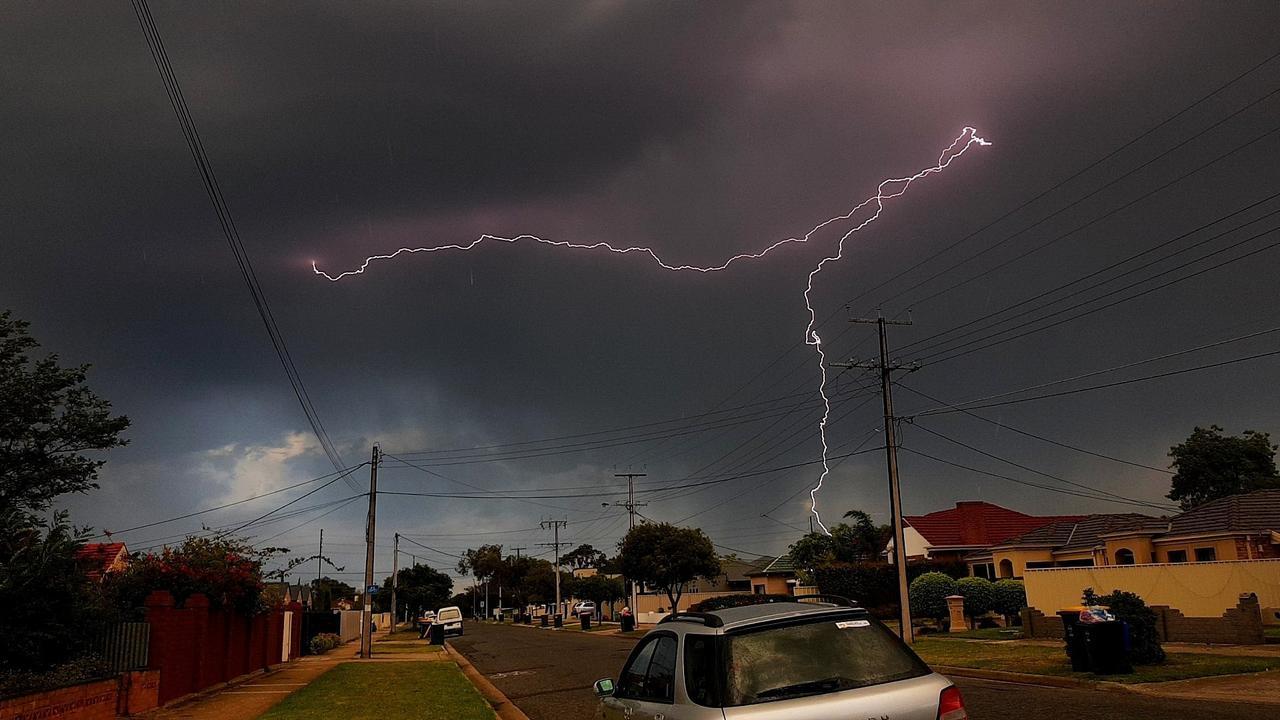 Lightning over Seaton. Picture: Harley Egel