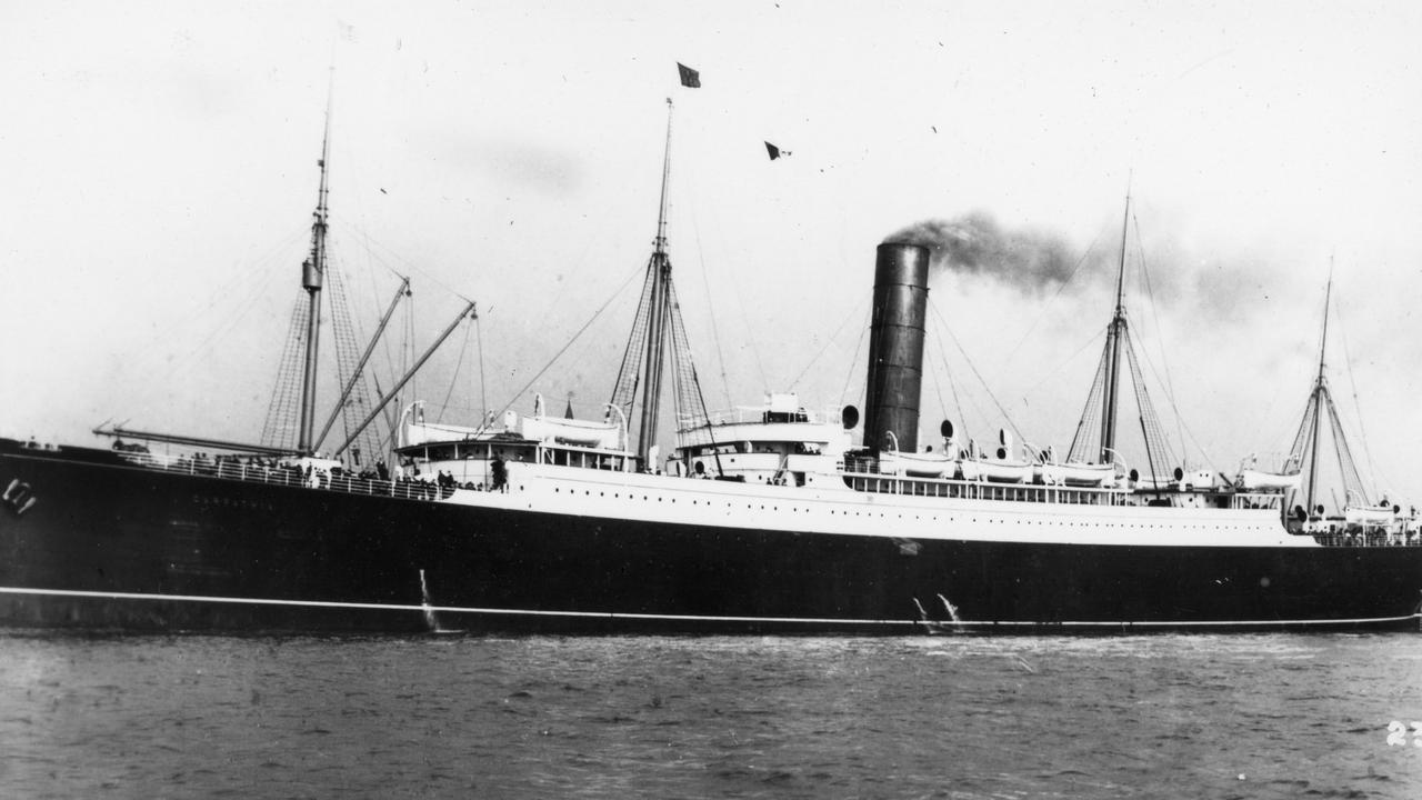 RMS Carpathia, famed for rescuing passengers from the Titanic.