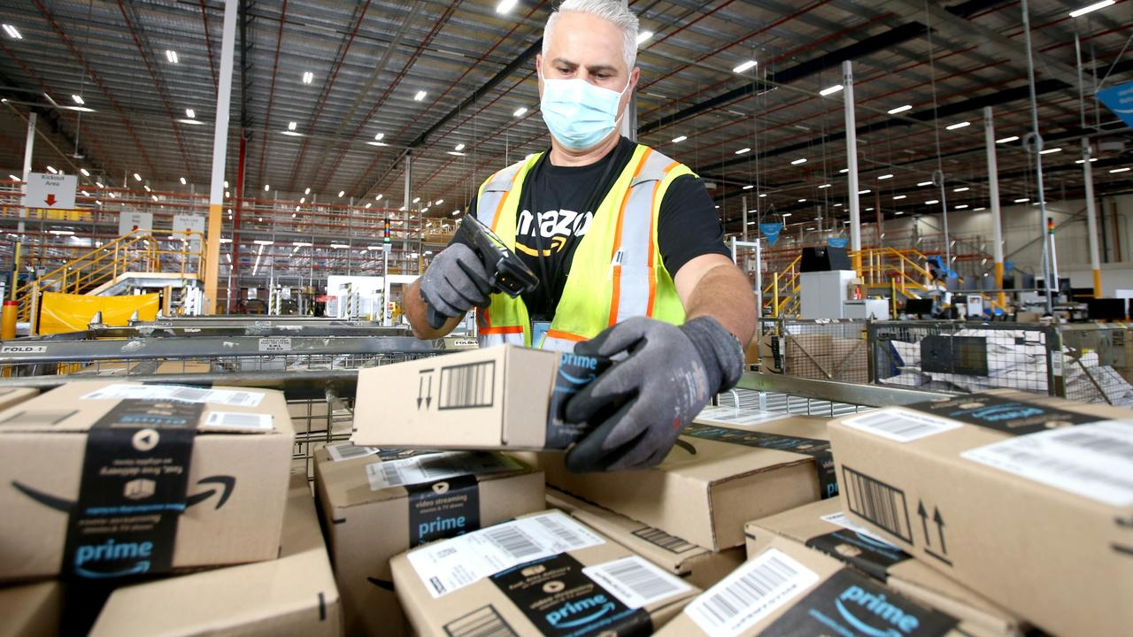 The TWU says cost-cutting by Amazon is driving down standards in the parcel delivery sector. Picture: Supplied Amazon/Steve Pohlner
