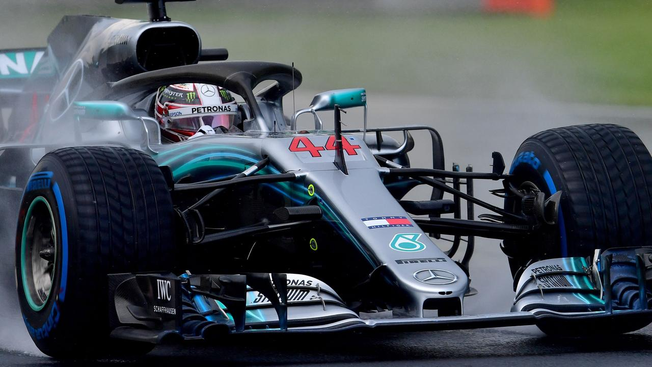 Lewis Hamilton on his way to pole in Hungary.