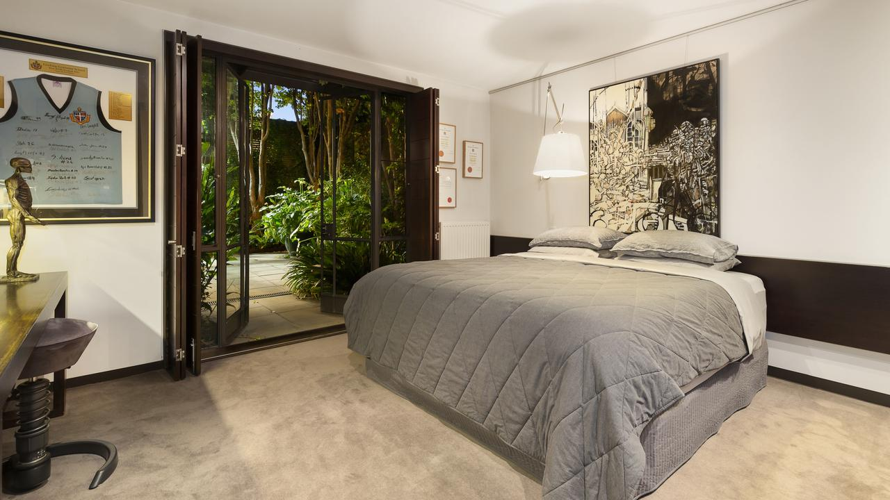 Lush outlooks from the bedroom.