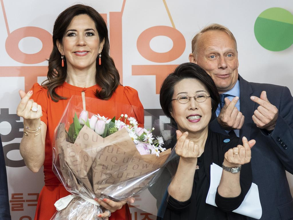 Crown Princess Mary was clearly just clicking her fingers. Picture: MEGA