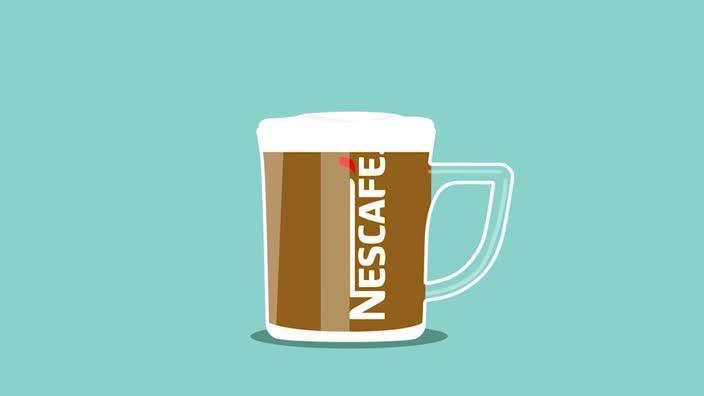 Making the perfect cappuccino with Nescafè red mug machine