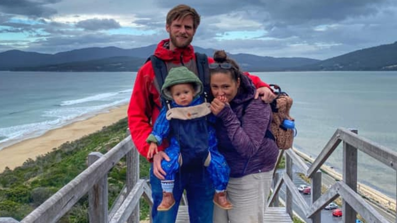 Michelle Ives with her husband Andy and son have followed the FIRE movement since she was 21. Picture: Supplied