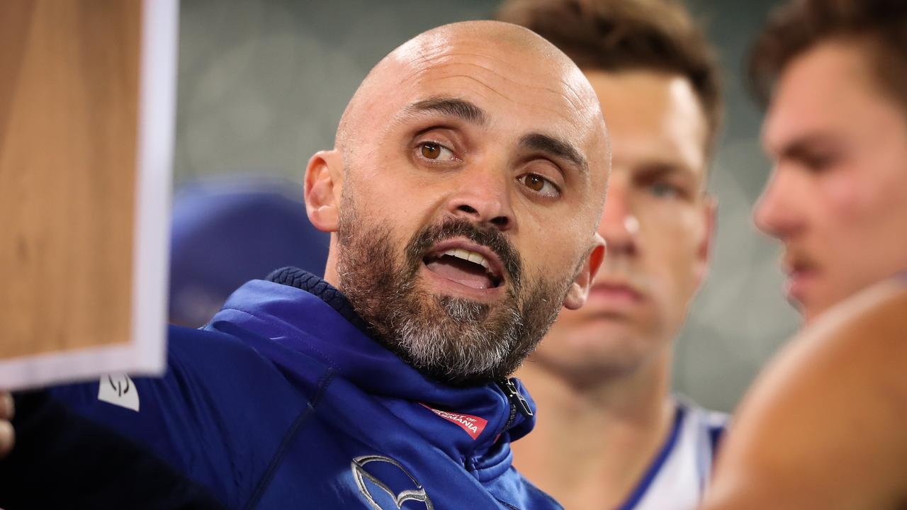 Rhyce Shaw has delivered a candid message to supporters and his players after a loss to Melbourne (Photo by Matt Turner/AFL Photos).