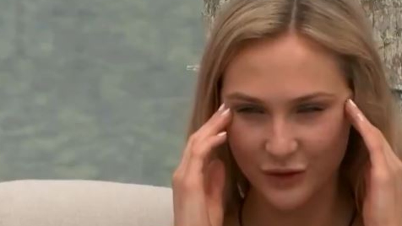 Jessie was visibly annoyed by Maurice's behaviour. Picture: Channel 9.