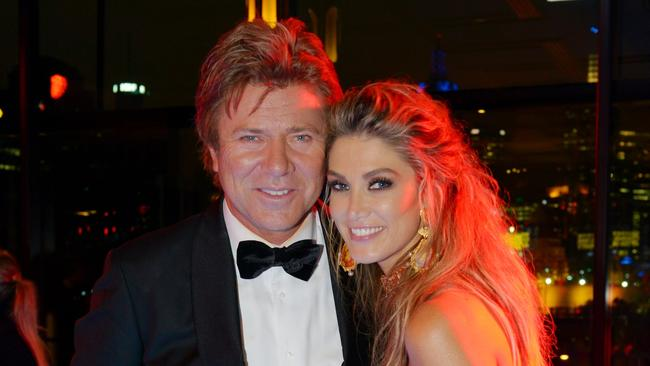 Dickie and Delta Goodrem. Picture: Channel Nine