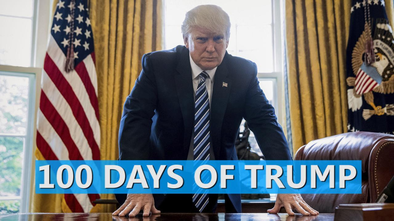 What Trump's first 100 days in office looked like
