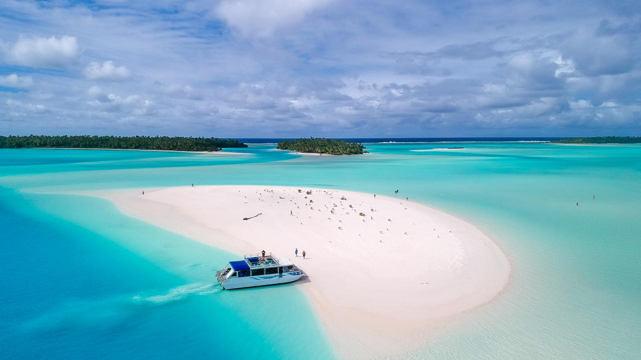 As good as it gets at Heaven Sandbar, Aitutaki. Picture: Mark Fitz