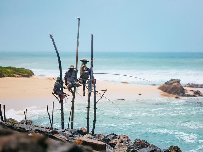 WATCH LOCAL FISHERMAN Sri Lanka's Stilt Fisherman are seriously impressive. Perched on wooden poles in the water's shallows, they make it look easy, but this fishing method requires next-level skills of balance and aim. See them at work along the island's southern coast.