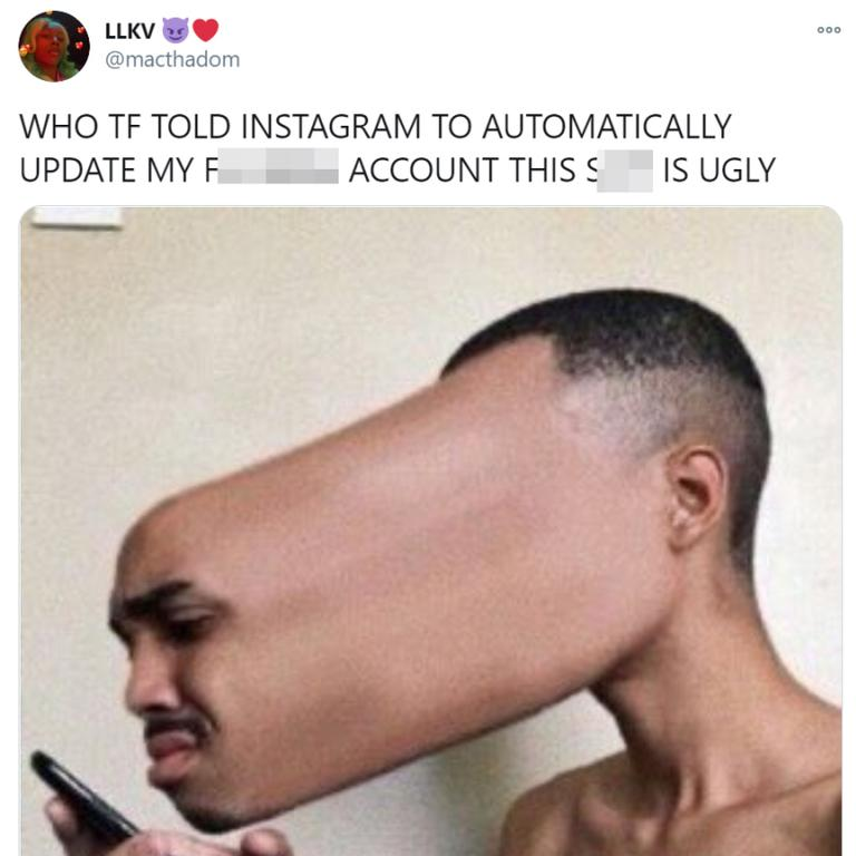 Insta users described the new look as 'ugly'.