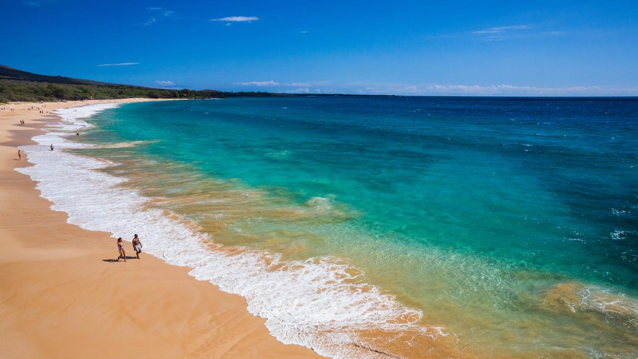 Oneloa Beach, Maui, is one of Hawaii's best-known and longest beaches.