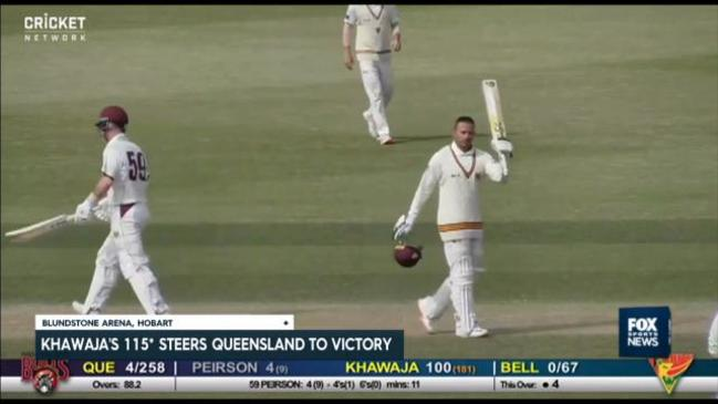 Brilliant Khawaja leads Queensland to an unlikely victory