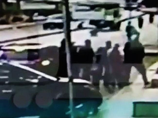 CCTV footage showing contractors hired by Sally Faulkner allegedly abducting her children from their Lebanese grandmother.