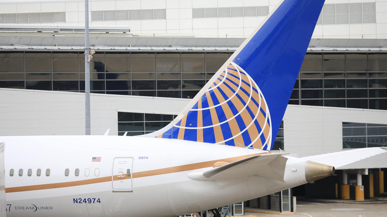The incident happened on board a United Airlines flight in San Francisco. Picture: NCA NewsWire / Christian Gilles