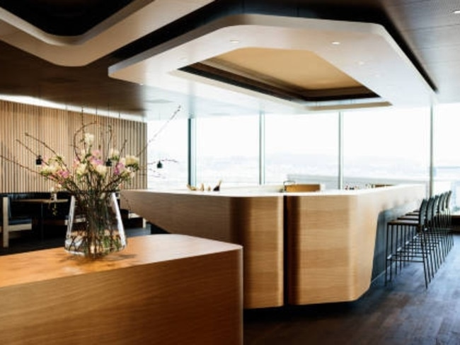 Swiss first class lounge. Picture: Supplied