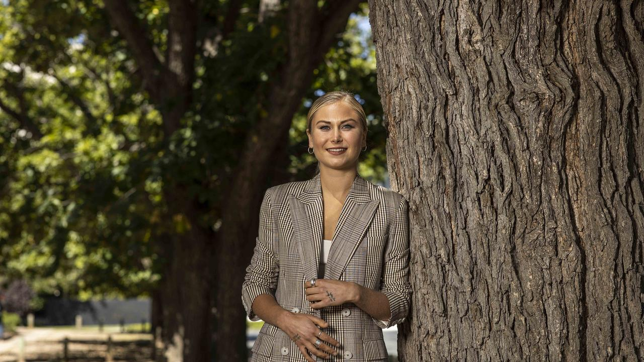 Australian of the Year Grace Tame has praised the ACT for committing to raise the age of criminal responsibility. Picture: NCA NewsWire / Gary Ramage