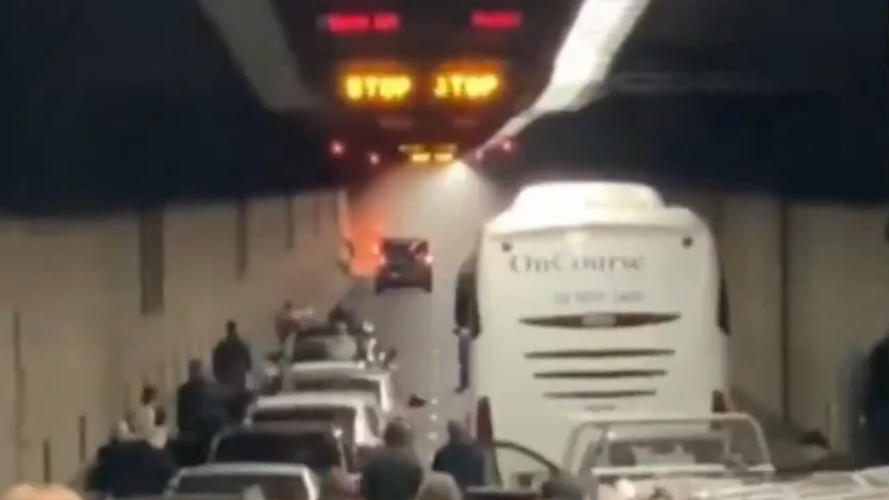 Car catches fire in Sydney Harbour tunnel