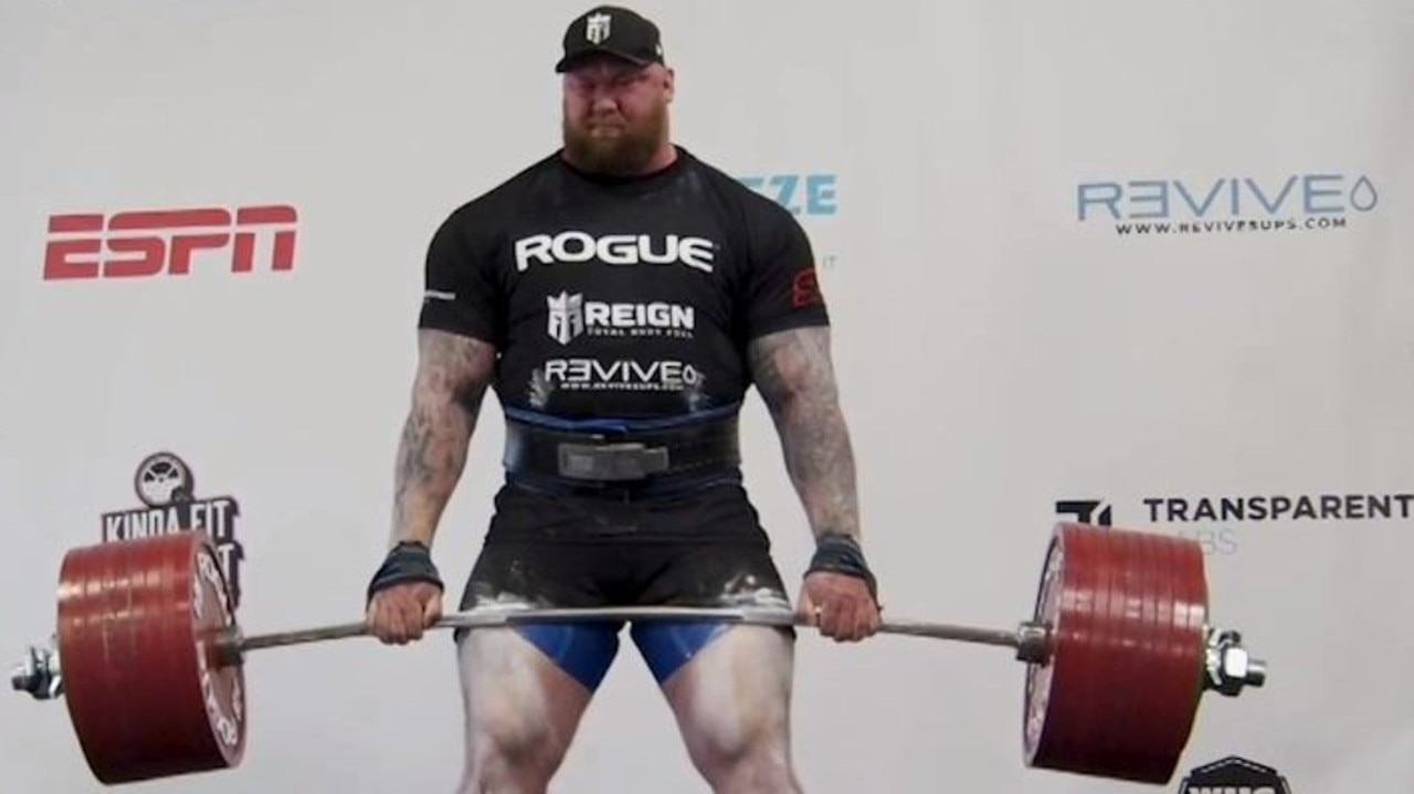 "Hafthor Bjornsson, who played ""The Mountain"" in the Game of Thrones medieval fantasy series has set a world record by deadlifting 501kg."