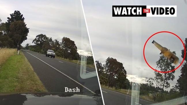 Bottle thrown at speed camera operator