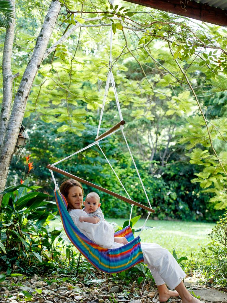 <s1>The hugely popular swinging hammock chair from Swingz n Thingz</s1>. Picture: Supplied