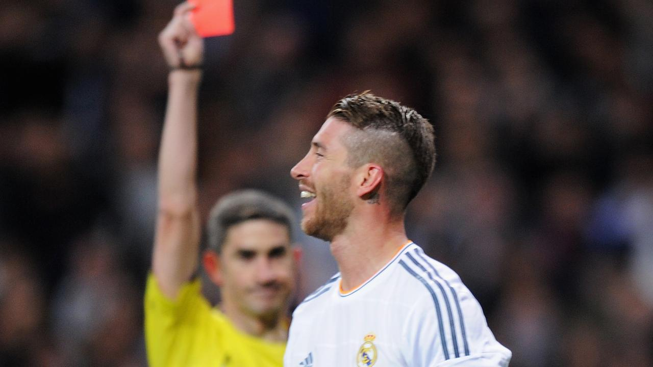 Sergio Ramos sets European red card record after dismissal in Real Madrid's defeat to Girona