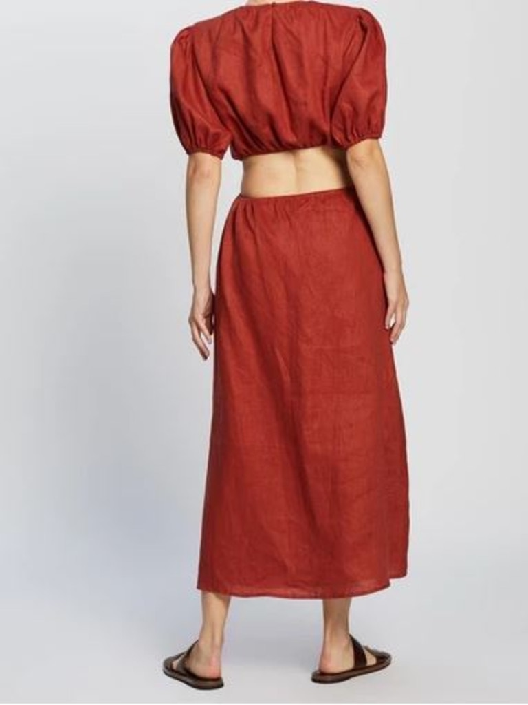 Aere Cut Out Maxi Dress. Image: The Iconic.