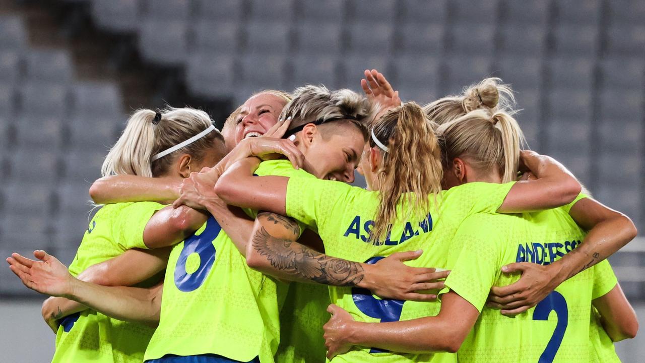 Sweden scored a stunning win. (Photo by Yoshikazu TSUNO / AFP)