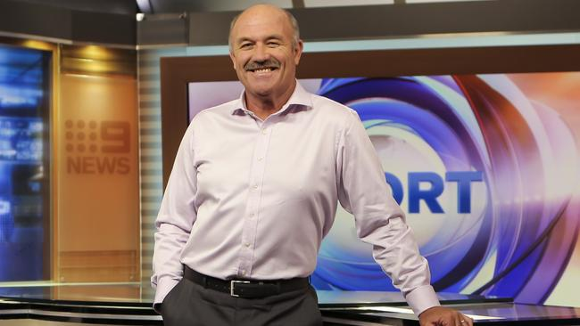 Wally Lewis at the Nine studios.
