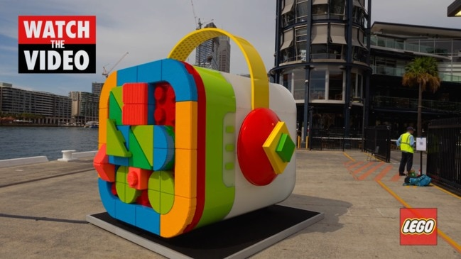Watch this LEGO VIDIYO BeatBox replica come to life at Sydney Harbour
