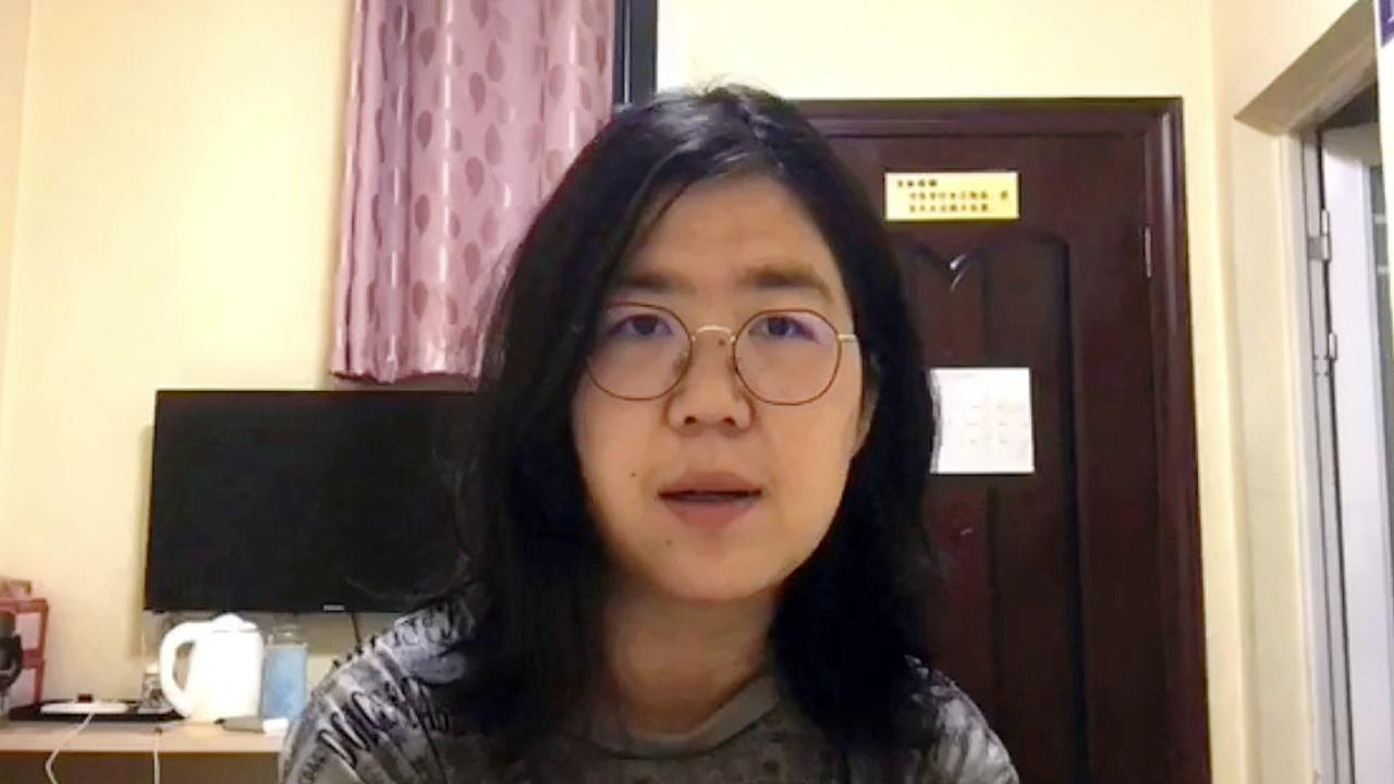 Zhang Zhan had been live-streaming from Wuhan since February. She was detained in May. Picture: South China Morning Post